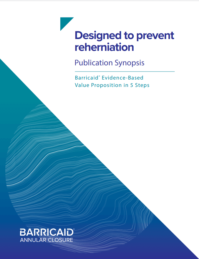 Image of the cover of the Designed to prevent reherniation Publication Synopsis